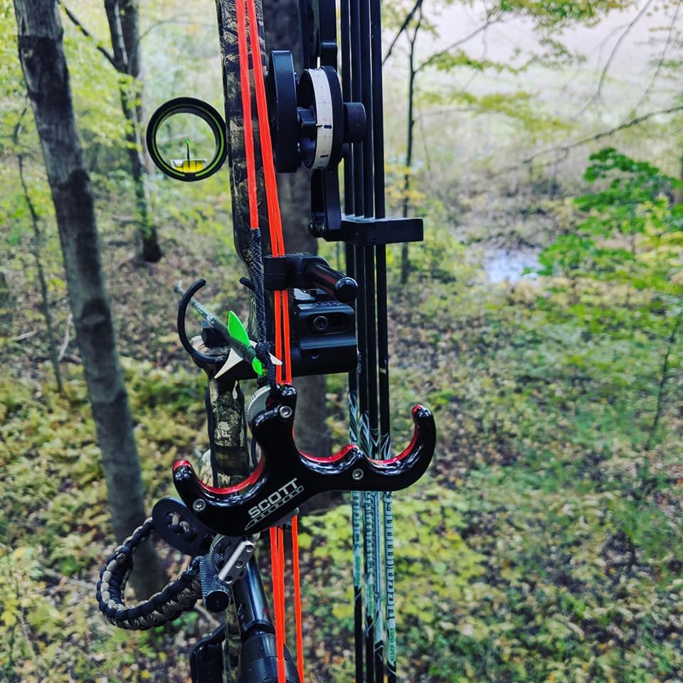 In order to get the best accuracy as possible we use single pin bow sights.